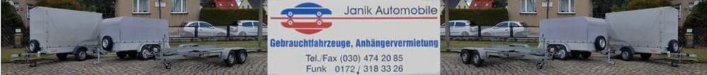 Janik-Automobile - Anhängervermietung und Gebrauchtfahrzeughandel